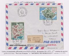 TAAF - Iles Australes - Kerguelen - Recommandé - Pa23 Pa24 - Lettres & Documents