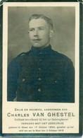 WO1 / WW1 - Doodsprentje Charles Van Gistel - Geel / Most - Gesneuvelde - Obituary Notices