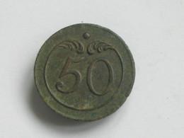 Ancien Bouton Militaire - PLAT -  N° 5O  A   **** EN ACHAT IMMEDIAT **** - Buttons