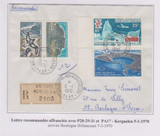 TAAF - Iles Australes - Kerguelen - Recommandé - P28-29-31 - Pa17 - Lettres & Documents
