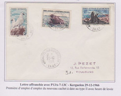 TAAF - Iles Australes - Kerguelen - Cachet Type 2 - Lettres & Documents