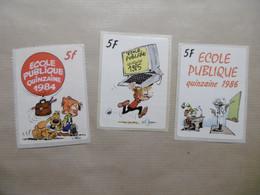 Autocollant Stickers - ECOLE PUBLIQUE - BD Illustration BOULE Et BILL - LOT à 5 F 1984 Et 1985 Et 1986 - Adesivi