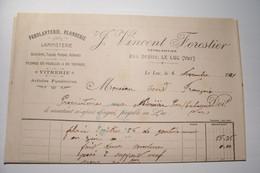 LE  LUC ( Var )  - VINCENT FORESTIER -Ferblanterie - Plomberie -Lampiste - Rue Droite  ( 1921 ) - 1900 – 1949