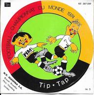 AUTOCOLLANT STICKER ADHÉSIF OLEOFINA - FOOTBALL CHAMPIONNAT DU MONDE 1974 - TIP + TAP - NR.5 - Stickers