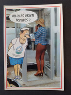 Humour Illustré Par Alexandre , Série 930/1 Femme Nue, Cabine Téléphonique, Téléphone - Alexandre