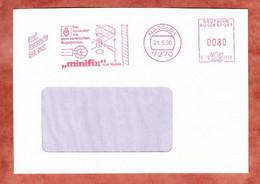 Briefdrucksache, Hasler C10-1759, Minifix Haefele, 80 Pfg, Nagold 1990 (1820) - Marcofilia - EMA ( Maquina De Huellas A Franquear)