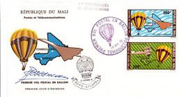 Tombouctou 1972 - 1er Vol Postal En Ballon Montgolfière - Atterrissage Bord Sahara - Concorde Avion Biplan - Mali - Níger (1960-...)