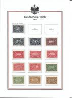 Deutsches Reich 1922 Lot 246 - 257 Farben!   3 Scans - Ungebraucht
