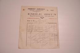 LE  LUC  ( Var ) - Emile  Brun  - Produits  Agricoles - Rue Emile  Combe    ( 1948   ) - 1900 – 1949