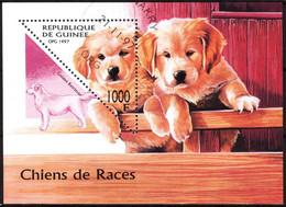 {G049} Guinea 1997 Dogs S/S Used / CTO - Guinea (1958-...)