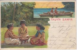 "Samoa - Talofa Samoa Ausstellung ""Unsere Neuen Landsleute"" Farblitho 1902 - Colony: Samoa"
