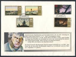 DDR Germany 1990 DDR + Bundespost - Brief / Cover - Casper David Friedrich - Letzte Mischfrankatur Möglich - 2.10.1990 - Emissioni Congiunte