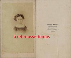 CDV Par Bailly Et Maurice Bld Béranger à Tours-portrait D'enfant - Anciennes (Av. 1900)