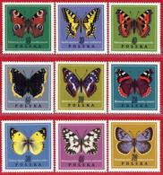 Polonia. Poland. 1967. Mi 1797 / 1805. Butterflies - Neufs