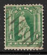Yvert 142 - 1 C Vert - O - Oblitérés