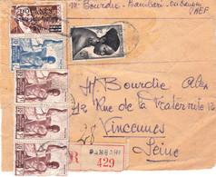 Carton D'envoi 3 Kg Bambari 1948 Pr Vincennes Avec Le Rare 5F Paquets-poste Familiaux - Covers & Documents