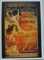 Grande Carte Publicitaire Champagne Mercier - Ohne Zuordnung