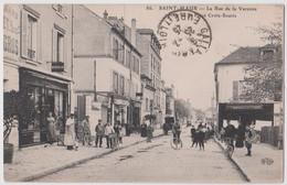 CPA  Rare Saint Maur (94) Place Croix Souris  Mad De Cycles  Pneus Michelin Boucherie  ELD 86  Cachet Librairie Cresson - Saint Maur Des Fosses