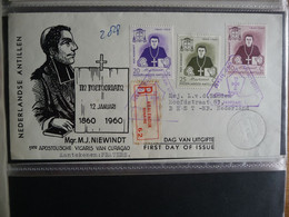 (NED) Nederlandse Antillen, 1960, Monsignor Niewindt, E14, FDC SEE SCAN - Curaçao, Antilles Neérlandaises, Aruba