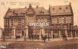 Ingang Der Provinciale Normaalschool - Tirlemont - Tienen - Tienen