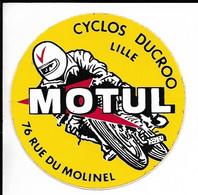 2 X AUTOCOLLANT STICKER ADHÉSIF MOTUL - CYCLOS DUCROO LILLE 76 RUE DU MOLINEL - MOTO - MOTOS - Stickers