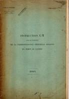 Document Historique De La Poste Instruction GM De La Correspondance Officielle Urgente En Temps De Guerre 1914 - Documentos Del Correo