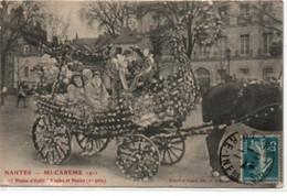 """Nantes- Mi-Carême 1911-""""vision D'Italie""""naples Et Venise (1° Prix) - Nantes"""