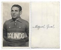 CARTE CYCLISME MIGUEL GUAL TEAM GALINDO 1948 - Radsport