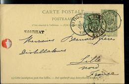 Entier Obl. OTTIGNIES  02/06/1899  + Grife De NOIRILAT - Sello Lineal
