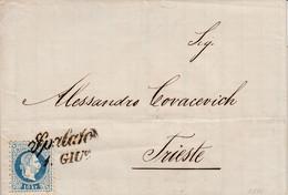 Croatia Austria 1876 Letter From Split Spalato, With Pre-stamp Period Postmark SPALATO 1 GIU, Interesting And Rare - Croatia