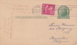 New York OCT 16 1949 Sent To Bruxelles (Belgium) - 1941-60