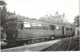 CHEMIN DE FER TRAMWAY BAYONNE ANGLET BIARRITZ Photographie Format CPA BAYONNE Tram Gros Plan Gare 1937 - Bayonne