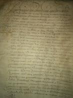 Parchemin 16 Gdes Pages, 1666, Montfort Amaury, Mesnil Saint Denis, Saint Rémy - Manoscritti