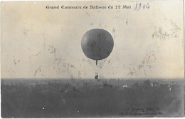 BORDEAUX (33) Carte Photo Grand Concours De Ballons 1904 Ballon En Vol - Bordeaux