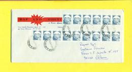 STORIA POSTALE  - AFFRANCATA CON FRANCOBOLLI IN BOBINA - 1991-00: Poststempel