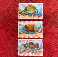 INDONÉSIE 1974 3v Neuf ** MNH Mi 794 / 796 YT 718 / 720 Pesce Poisson Fish Pez Fische Indonesia - Peces