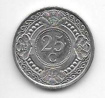 *netherlands Antilles  25  Cents  1989  Km 35    Bu/ms65 - Antillas Nerlandesas