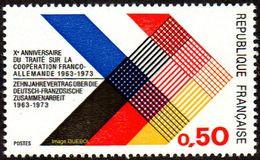 France N° 1739 ** Xème Anniversaire Du Traité Sur La Coopération Franco-allemande - Nuovi