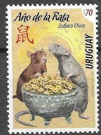 URUGUAY, 2020 ,MNH, CHINESE NEW YEAR, YEAR OF THE RAT, 1v - Anno Nuovo Cinese