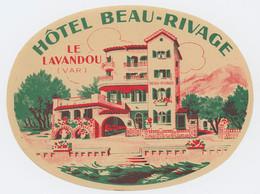 Etiquette - Hotel Beau Rivage - Le Lavandou - Var - Pubblicitari