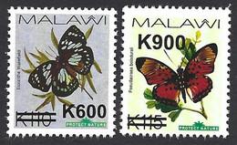 Malawi 2020 Fat Butterfly Overprint Pseudacraea Boisduvalii Euxanthe Wakefieldi MNH Mint - Butterflies