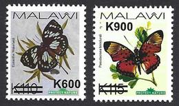 Malawi 2020 Thin Butterfly Overprint Pseudacraea Boisduvalii Euxanthe Wakefieldi MNH Mint - Butterflies