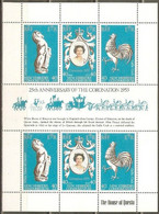 HOJITA 25 ANIVERSARIO CORONACION ELISABETH II ** YVERT NUM. 538/40 - Nuovi