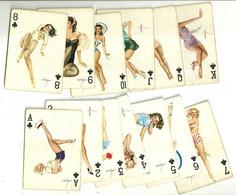 "11054""1953Alberto Vargas Pin Up Playing Cards.Vargas Vanities 53 Pin Ups,Compl.Deck,2 Jokers.Blue Box,Green Backs.Sexy"" - Carte Da Gioco"