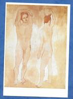 CPA Tablau Pablo Picasso : Les Adolescents , Huile Sur Toile Peinte En 1906  Nu Masculin - Paintings
