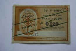 Rationnement - Billet Ticket Matiere Bois - Historical Documents