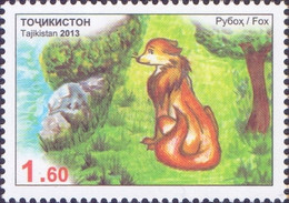 Tajikistan - Fox, Stamp, MINT, 2013 - Hunde