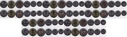 Botswana - 5 Pcs X Set 6 Coins 5 10 25 50 Thebe + 1 2 Pula 2013 UNC Lemberg-Zp - Botswana