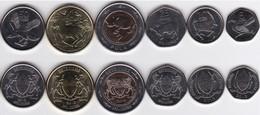 Botswana - Set 6 Coins 5 10 25 50 Thebe + 1 2 Pula 2013 UNC Lemberg-Zp - Botswana