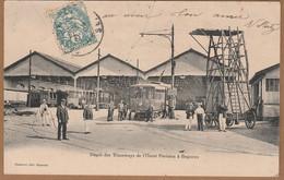 Cpa 92 Bagneux Dépôt Des Tramways De L'Ouest Parisien - Bagneux